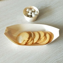 Disposable bent pine wooden boat tray/<strong>plate</strong> /bowl/cone for food serving tray for sushi and icecream fast food