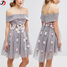 New Look Flower Embroidered Fashion Design Girl's Lace Dress