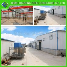 light weight steel structure parking building50m deep iron structure warehouse building