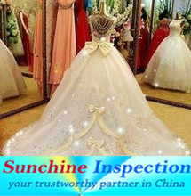 wedding dress quality control service for oversea buyer