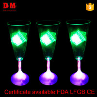 220ml ps led champagne glass