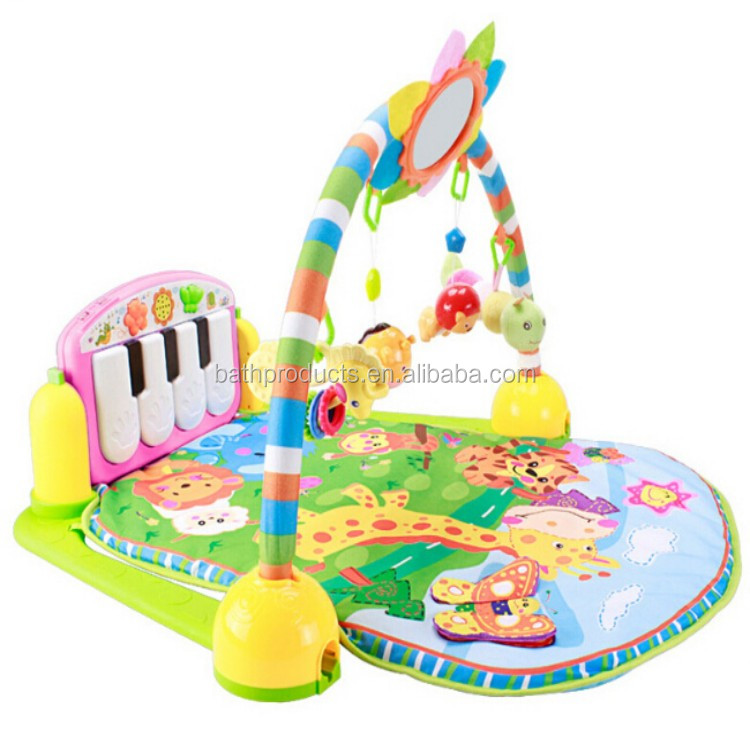 Baby multi-function gym baby foot pedal piano music game mat baby play mat