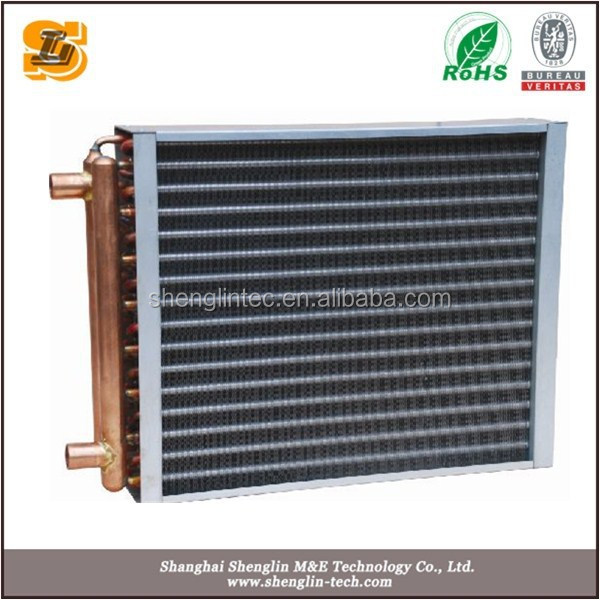 copper tube blue fin water cooled condenser for ice maker