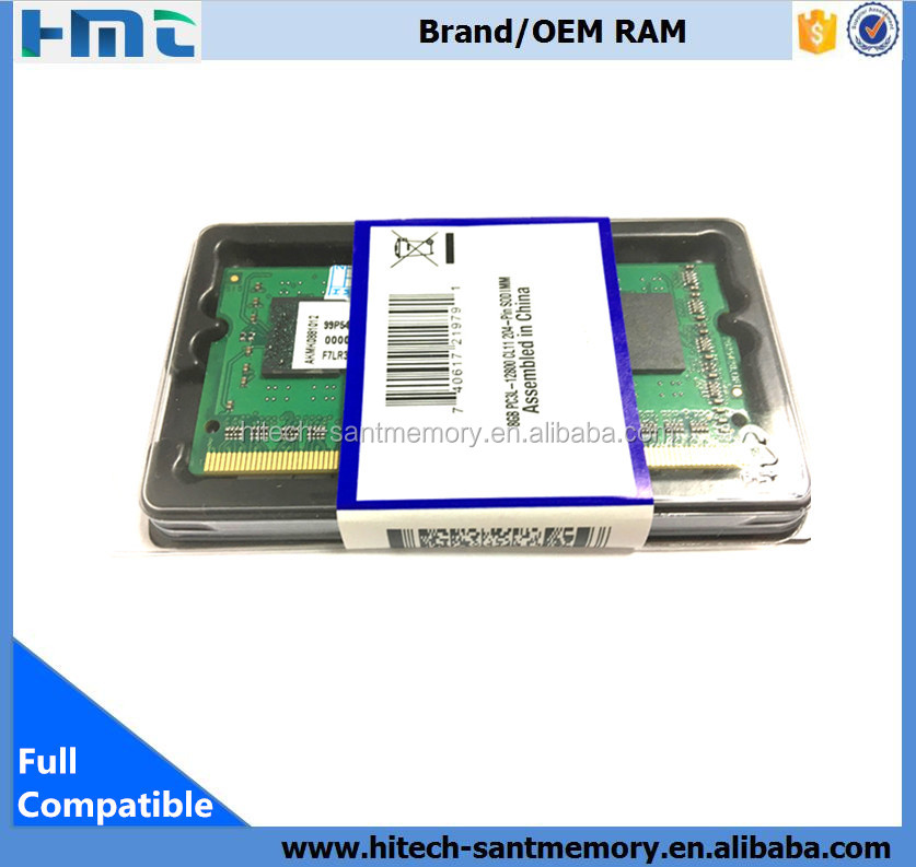 Factory good price sodimm 1600mhz 8gb ddr3 1.35 voltag laptop ram for all chipset on