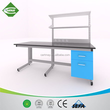 Cheap Lab furniture work bench with drawers,C-frame steel lab work bench,metal lab furniture