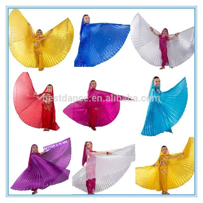 BestDance belly dance performance isis wings children dance costumes angel wings for girls kids OEM