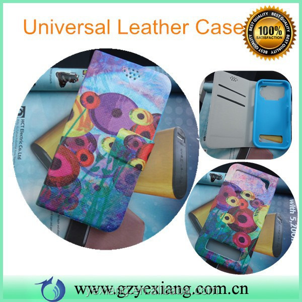 Cheap Price 4 Inch Universal Mobile Case 5 Inch Flip Leather Cover