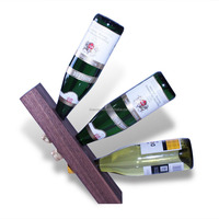 LINEX 3 bottle balance wooden wine racks wood wine bottle stand