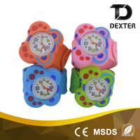China supplier classic silicone slap band children wrist watch