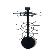 Jewelry Display Stand Rotating Revolving 3 Tier Metal Earring Display Stand