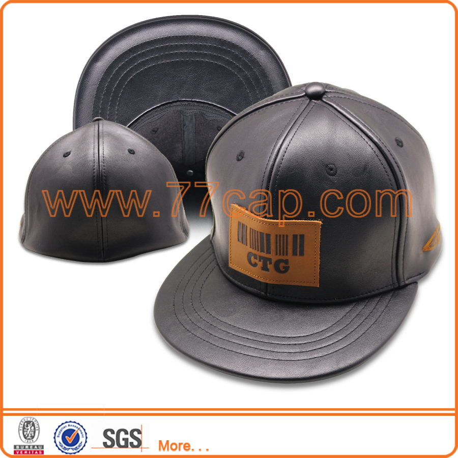 wholesale leather strap snapback blank hat promotion