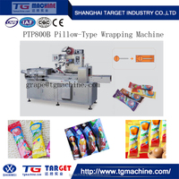PTP800B Ball Type Lollipop Candy Pillow Packing Wrapping Machine