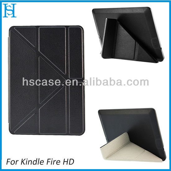 "7"" inch New Magnetic Folio PU Leather Case Cover For Amazon Kindle Fire"