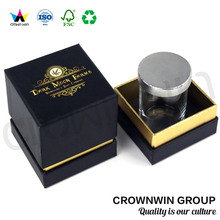 Crownwin Square Handmade Cardboard Gift Box With Lid For Candle