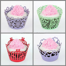 Floral lace cupcake wrappers wrappers Wedding Paper Cutting Decorations