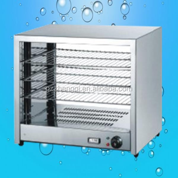Hot Sale Glass fried chicken food display warmers, countertop hot food display case, food warmer display counter(ZQW-580)