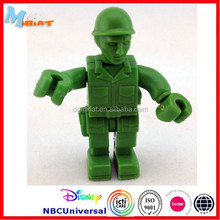 Hot sale arsenal gadget 3d pvc figure toy green movable farmers engineers action figure