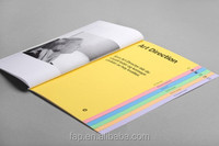 Processing customized low price matte art paper catalogs