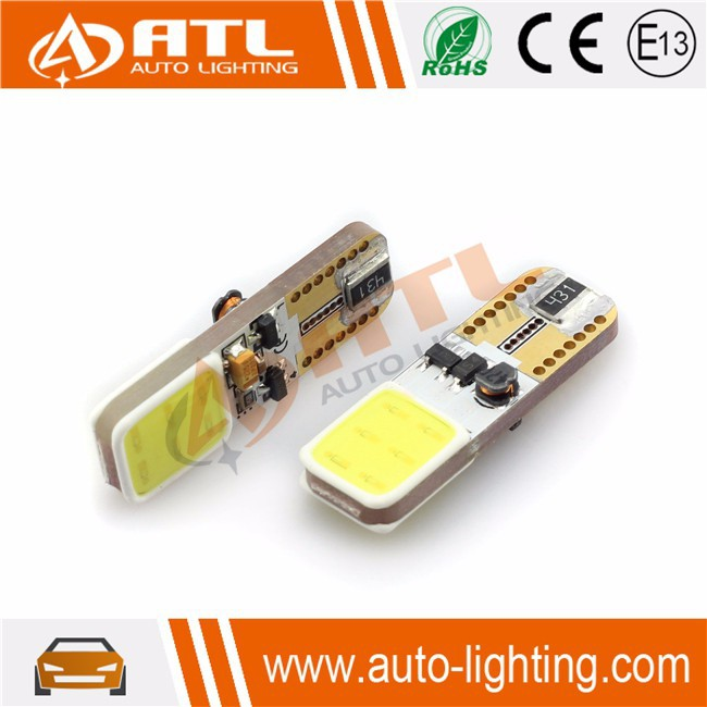 High Quality COB-CANBUS-T10,FOG light non-polarity, anti 18V electrical surge 2w w5w car led light