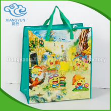 Promotional Cheap Custom fashion pp woven shopping bag for gift