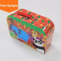 Luxury new style paper kids gift packaging box with handle