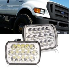 "5x7""inch Square Led Headlight 45W LED High Low beam Front Head light"
