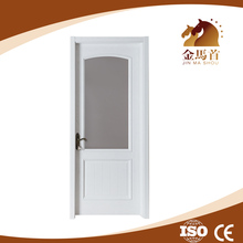 JMS New product Cheap high quality mdf pvc veneer wood economic single door with glass