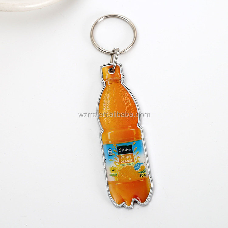 3D metal promotional custom metal name keychain