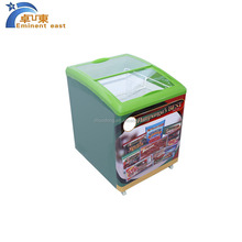 display refrigerator showcase freezer with top tempered glass doors