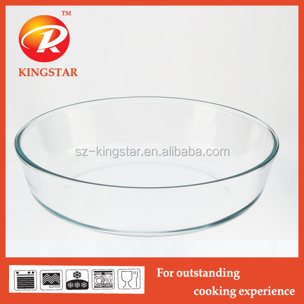 Oval heat- resistant pyrex glass baking tray/ pizza plate set