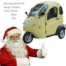 Luxury cheap price enclosed electric tricycle with passenger seats