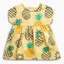 kL-DS-052 children smocked 2017 summer <strong>dress</strong> hot sale kids ruffle <strong>dress</strong> pineapple pattern <strong>girl's</strong> summer <strong>dresses</strong> free shipping