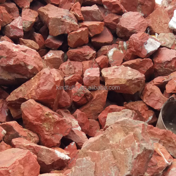 wholesale natural raw rock red jasper crystal rough stone for carving