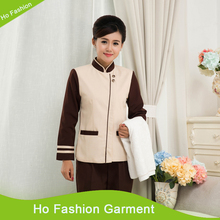 Classic design hotel housekeeping uniform for women