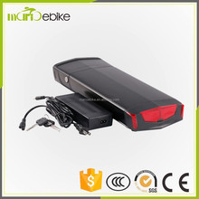 48V 1000W black housing rear rack 48v 11.6ah electric bike battery lithium ebike battery with charger