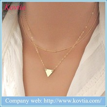Gold Triangle necklace designer jewelry replica gold necklace designs in 10 grams