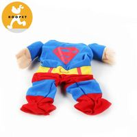 Cute multicolored pet superman costume