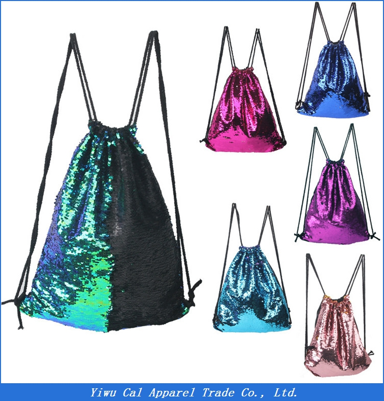 wholesale sequin drawstring <strong>Backpack</strong>