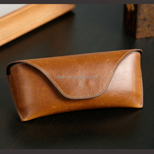 Beautifully Finished Sunglasses Case Leather Glasses Case with Popper Closure