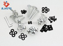 Fashion Exquisite CNC Streetbike 100 pcs Key Fairing Bolts Clips Fairing Kit Aluminum Nut and Bolt Motorcycle Fairing Screw