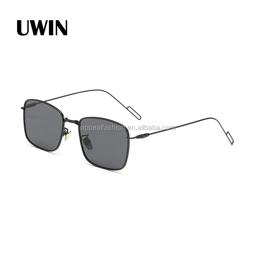 Luxury Square Sunglasses Fashion Men Metal Glasses European Unique Flat Coating Lens Women Brand Designer Sunglasses