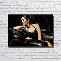 Half naked women real oil painting hand paint house decoration figure sex women photo