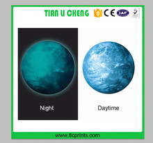 Custom Moonlight wall papers home decor Glow In The Dark Moon Earth wall sticker kids Room Luminous Planet