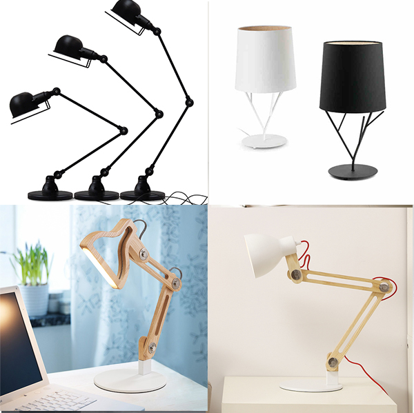 Modern Desk Type 5w Led Table Lamp With Mobile Charger