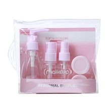 5pcs plastic cosmetics packaging toiletry kit makeup travel bottle set