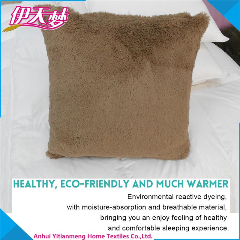 China manufacturer faux mongolian fur pillow