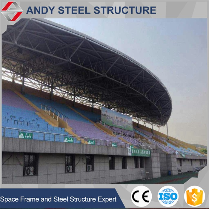 Long span multi-storey and dome roof space frame structure roofing for stadium
