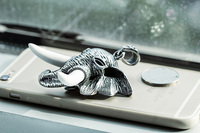 Bulk sale 316l stainless steel hip hop punk style animal elephant head pendants
