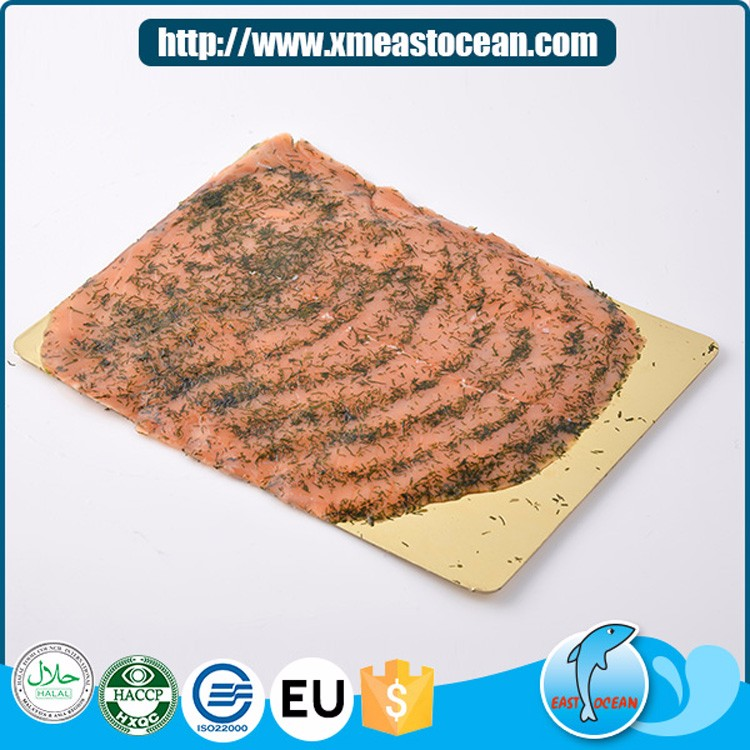 Good quality delicious seafood frozen fresh smoked salmon flies with vanilla
