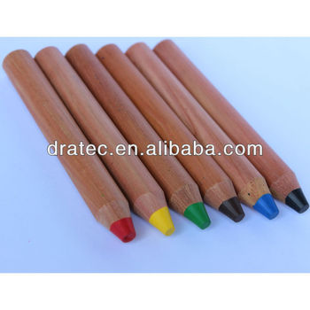 Jumbo wooden wax crayons, jumbo crayons, colored pencils